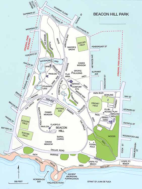 Beacon Hill Park map