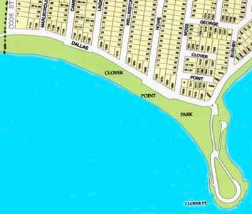 Map of Clover Point Park