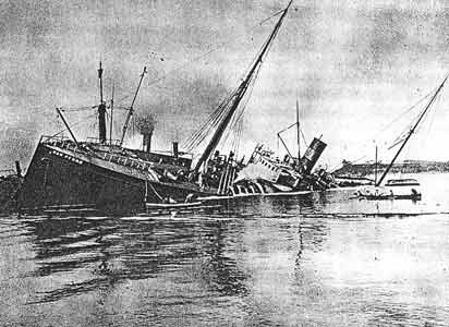 Attempted salvage of the San Pedro