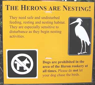 New heron sign